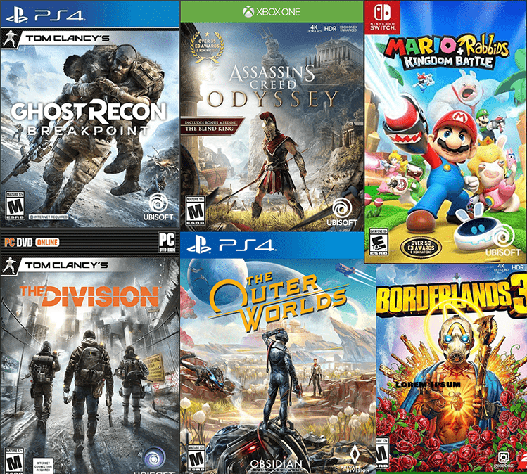Video Game cover montage